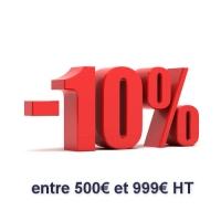 Peintures : Remise de 10 % pour 500 à 999 € HT d'achats