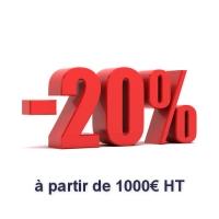 Peintures : Remise de 20 % à partir de 1000 € HT d'achats